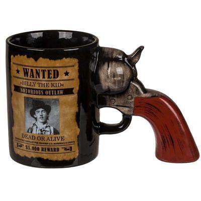 Tasse Pistolengriff Revolvergriff Kaffeetasse Kaffeebecher Pistole Steckbrief