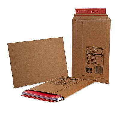 100 ColomPac CP 01004 Karton Versandtaschen braun 25x35 cm Pappversandtaschen