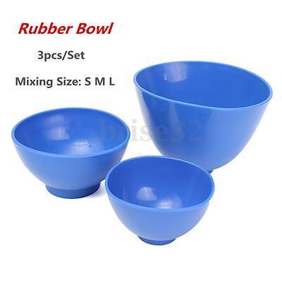3pcs Dental Nonstick Impression Alginate Flexible Rubber Mixing Medical Bowls