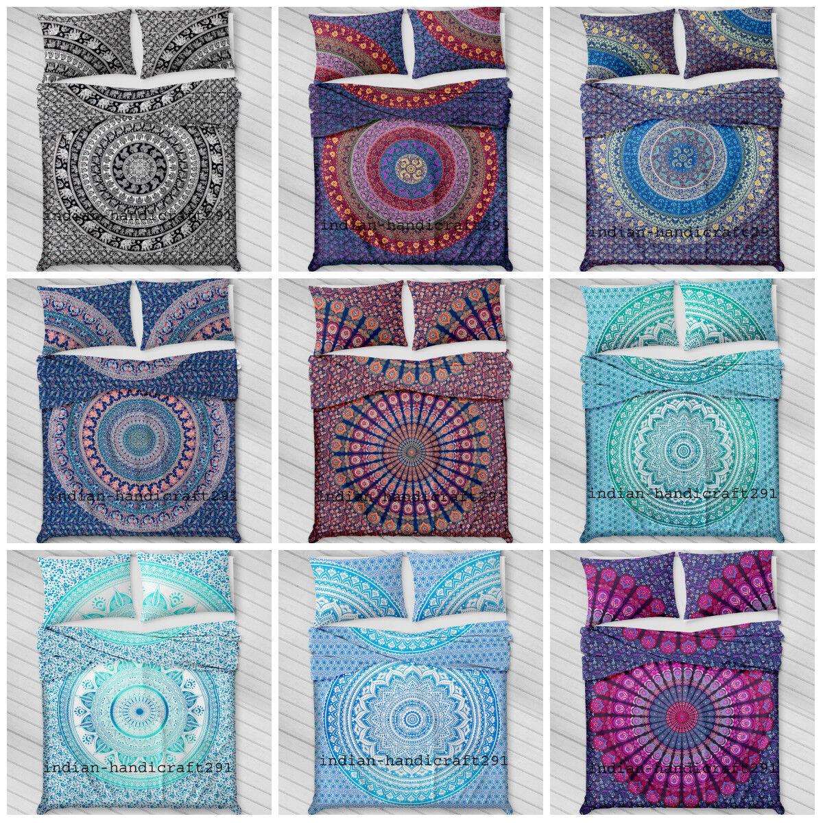Indian Duvet Doona Cover Comforter Mandala Hippie Bohemian Q