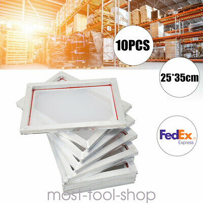 10 Silk Screen Printing Machine Press Frame Kit Set For T-shirt Diy Printer