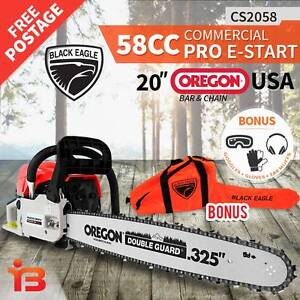"Latest Powerful 58cc 20"" Petrol Chainsaw with Oregon Bar & Chain Fairfield Fairfield Area Preview"