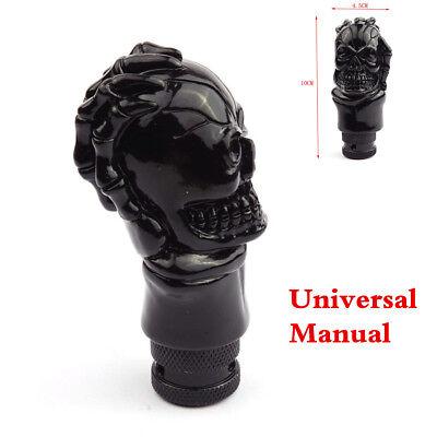 Car Skull Head Manual Transmission Gear Shift Knob Skull Shifter Lever Black New