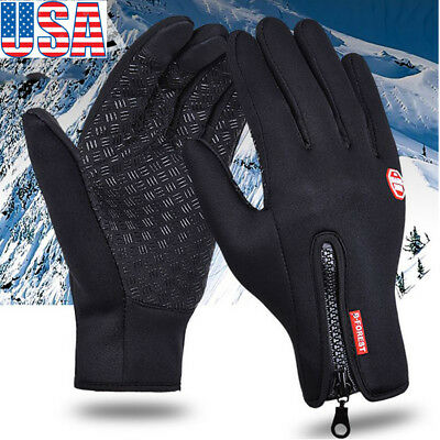 (Mens Women Winter Thermal Outdoor Sport Ski Gloves Waterproof TouchScreen Gloves)