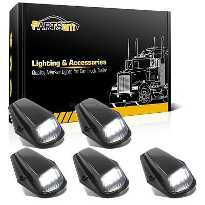 5xWhite 12LED Black Lens Cab Roof Marker Lights for 73-97 Ford F-150 F-250 F-350