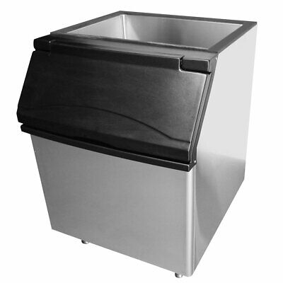 New 395 Lb Self Contained Ice Storage Bin Stainless Interior Atosa Cyr400p 9801