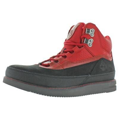 Timberland Mens 43 North Mid Red Hiking Boots Shoes 11.5 Medium (D) BHFO -