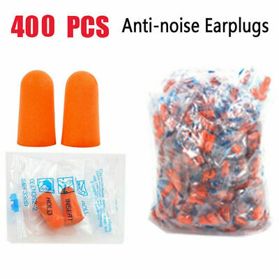 400x Ear Plugs Sleeping Hearing Protection Noise Reduction Hunting Shooting Foam