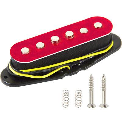 1X Guitarra Eléctrica Pastilla de Cuello Individual Bobina Rojo Pearlolid