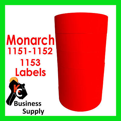 Red Labels For Monarch 1151 1152 1153 1175 1176 1177 Free Shipping