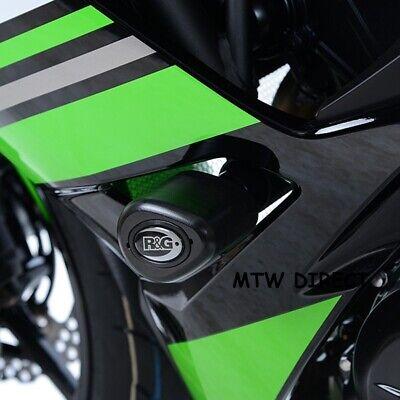 R&G Crash Protectors Bungs Aero Style for Kawasaki Ninja 650 2017 CP0416BL