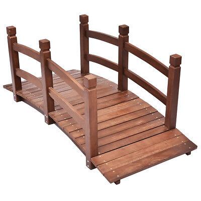 XXL Massive Holzbrücke Teichbrücke Brücke Gartenbrücke Holzsteg geölt