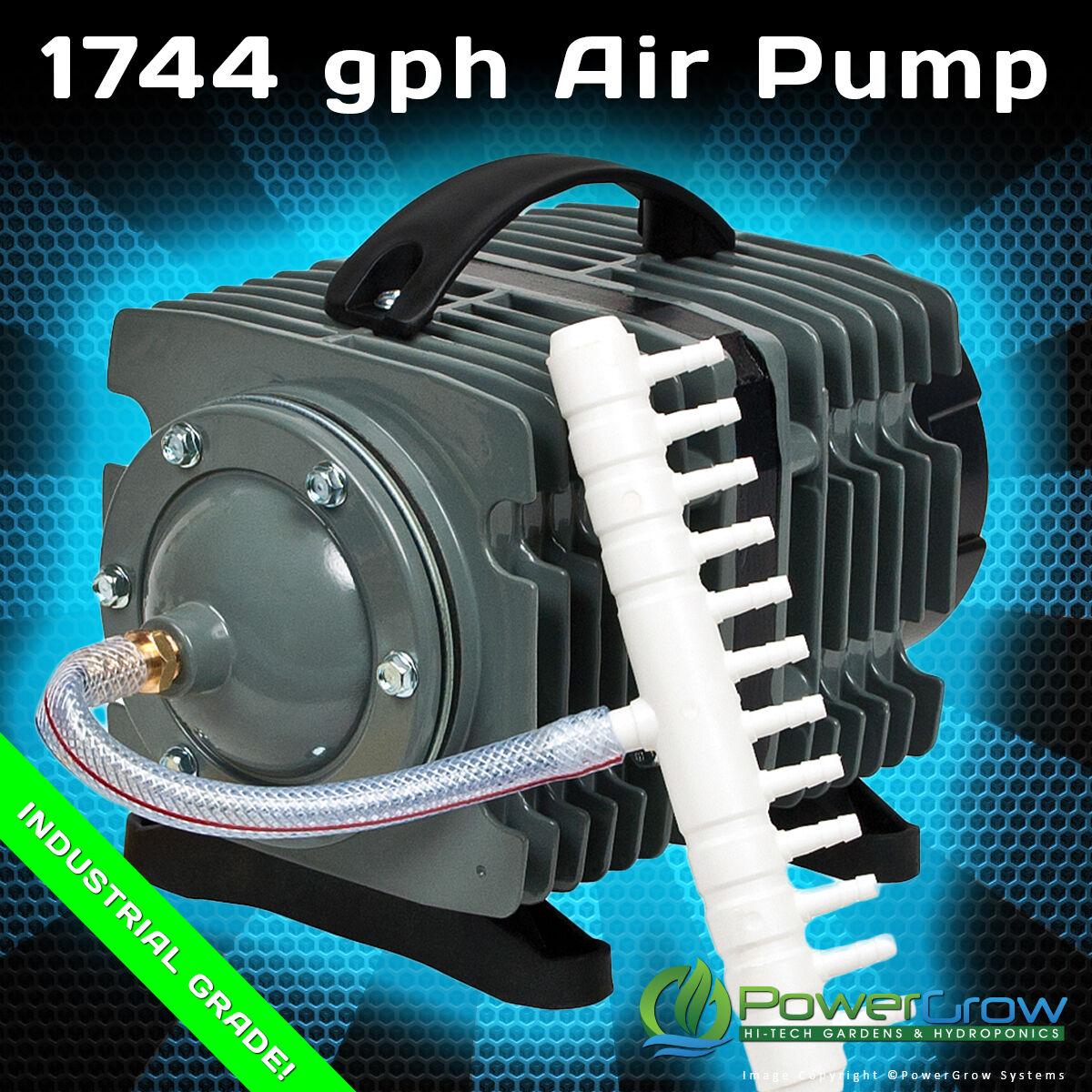 Commercial Air Pump 1744 Gph Elemental O2 Aquarium Hydroponics Aquaponics Pond