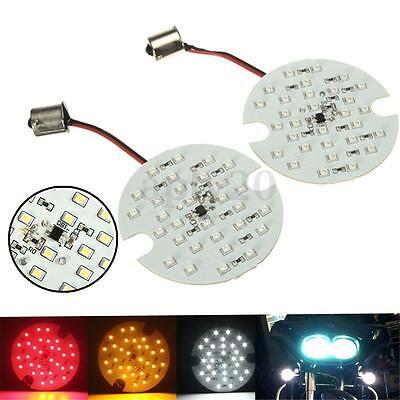 2Pcs Red Yellow White Led Smd Turn Signal Blinker Panel Light For Harley Glide