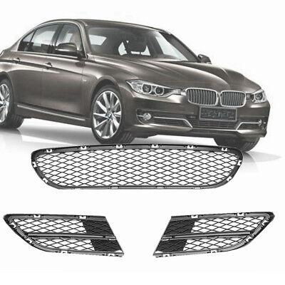 3PCS Front Lower Bumper Grille Grill Kit FOR BMW 3 Series E90 E91 325i 328i 335i ()