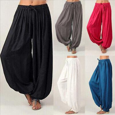 HAREM TROUSERS Ali Baba Pants Cotton Aladdin Afghan Genie Hippy Yoga Jumpsuit -