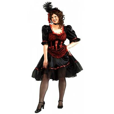 Saloon Girl Costume Adult Wild West Madame Can Can Dancer Halloween Fancy Dress (Can Costumes)