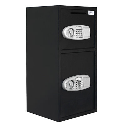 Office Home Security Safe Box Double Door Jewelry Cash Gun Document Drawer