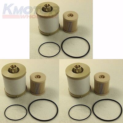 3 Fuel Filters Filter OE Spec Ford F Series 6.0L 03-07 Powerstroke Turbo (Ford 9 Specs)