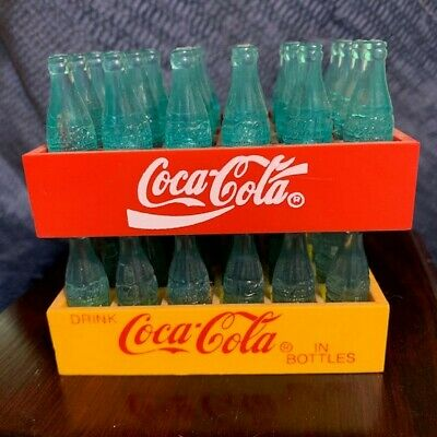 Mini Coca-Cola Coke Yellow & Red Mini Crates Each with 24 Bottles
