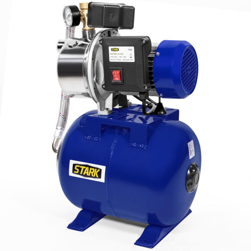 1.5HP Water Jet Pump Shallow Well Fountain Garden Lawn Booster System Tank
