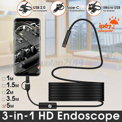 5m 6led Wifi Borescope Endoscope Camera Snake Inspection For Universal Phone