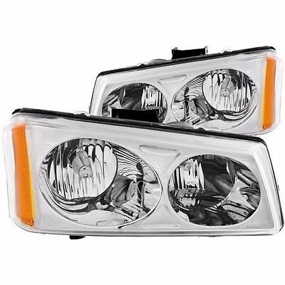 Eagle Eye Chrome L&R Headlights 2003-2007 Chevrolet Silverado/Avalanche