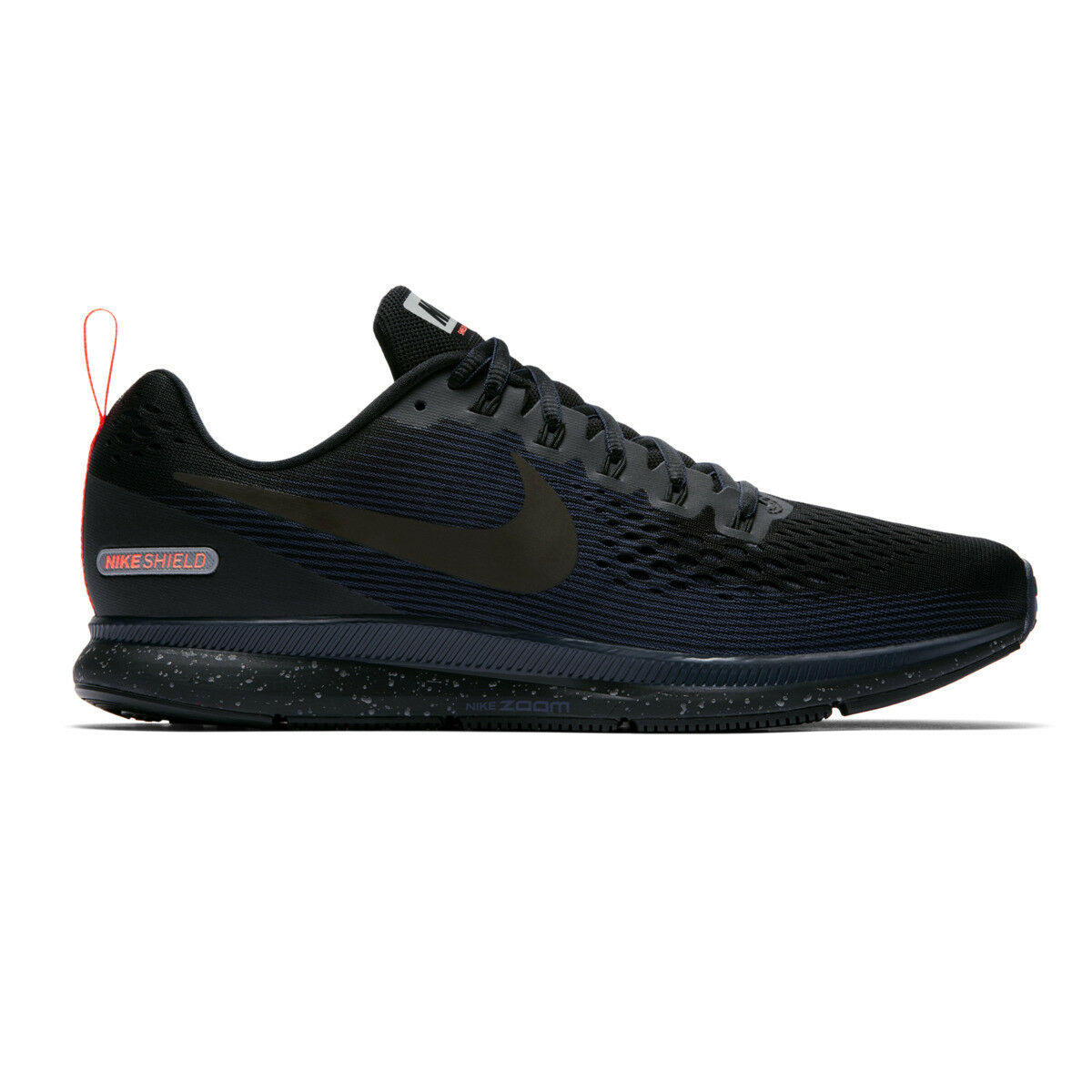 c2508571714 Nike Air Zoom Pegasus 34 Shield Water Repel Black Blue Men Running ...