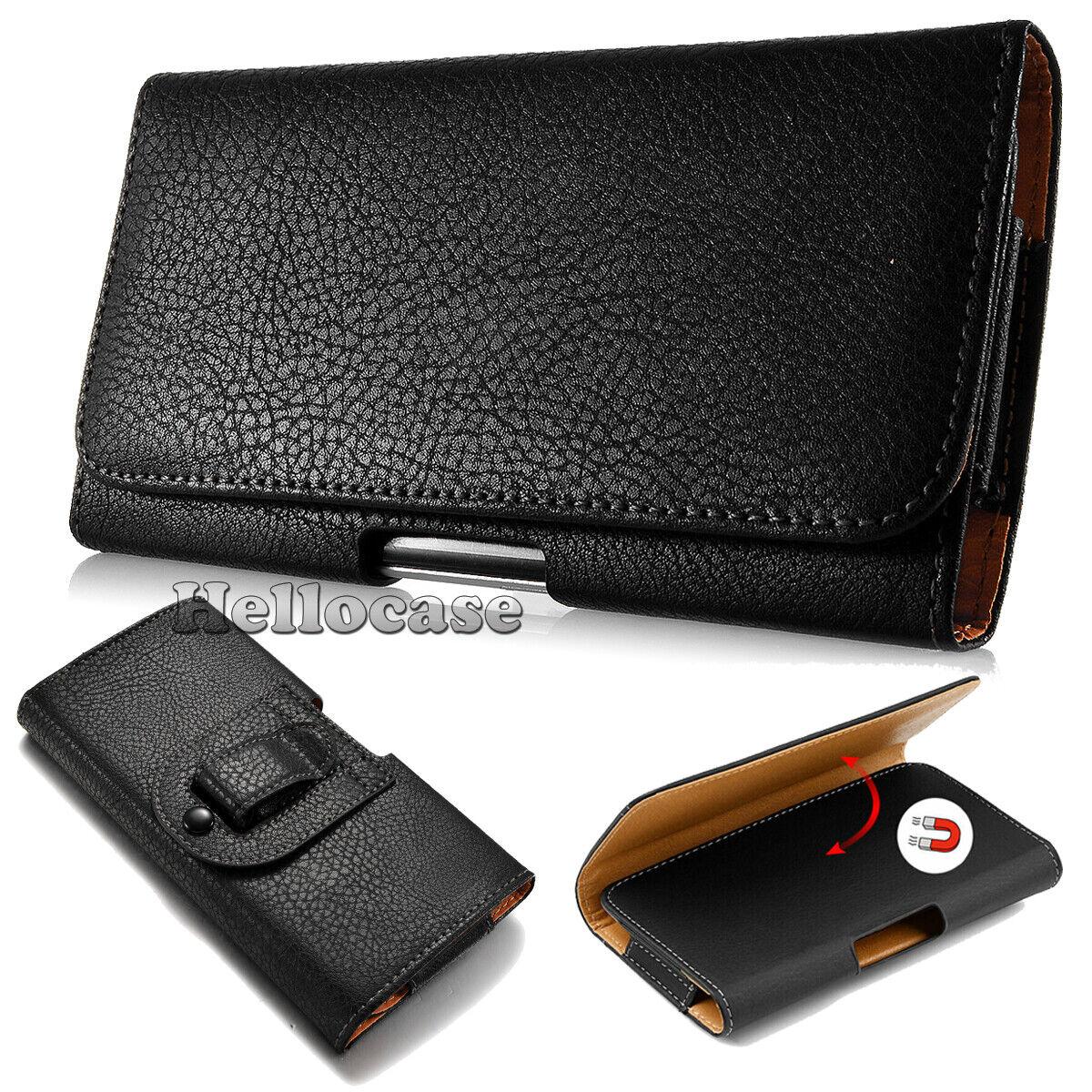 For LG Stylo 5/Stylo 4/3/2 Black Leather Belt Clip Horizonta