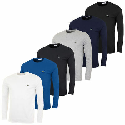 Pima Crewneck Tee - NEW MENS LACOSTE LONG SLEEVE REGULAR FIT PIMA JERSEY CREWNECK T-SHIRT, $59.50