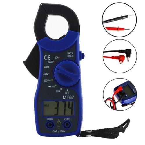 MT87 Digital Electric Clamp Meter Multimeter AC DC Current Volt Amp Tester Test