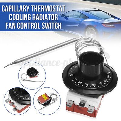 0-120℃ Capillary Universal Car Thermostat Cooling Radiator Fan Control Switch