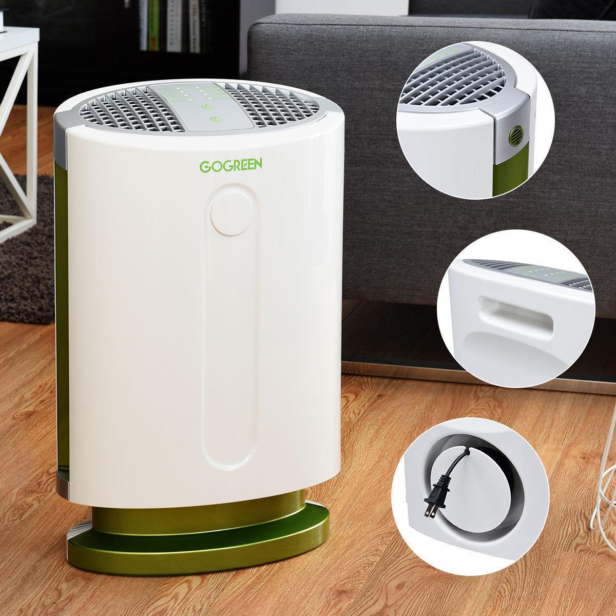 GoGreen Air Purifier HEPA Carbon Filter Fan Smoke Pollen All