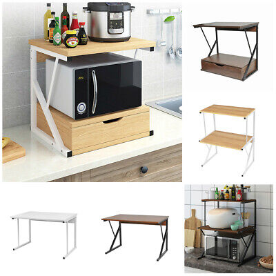 Storage Shelf Home Kitchen Organization Microwave Oven Rack Metal Frame Sturdy