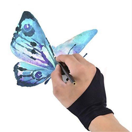 как выглядит Планшет для рукописного ввода графической информации 2pcs Two Finger Anti-fouling Glove For Artist Drawing & Pen Graphic Tablet Pad фото