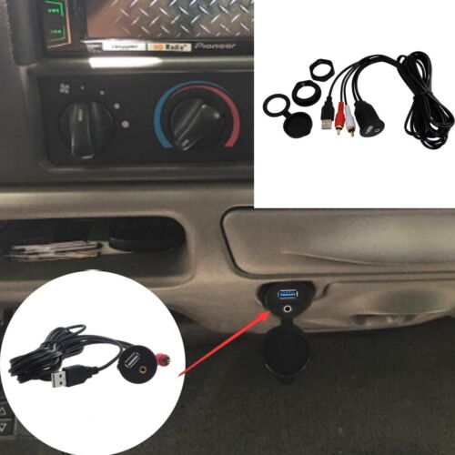 USB 2.0 EXTENSION Cable Male Plug to Female Socket Dashboard Flush Mount