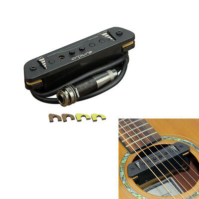 US OriPure Acoustic Guitar Soundhole Pickup Magnetic With Tone & Volume Control