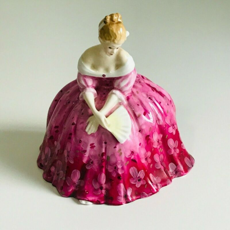 **Royal Doulton** Victoria Lady in Pink Dress w/ Fan Figurine HN2471 Collectible