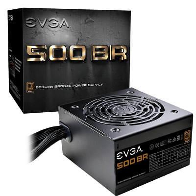 EVGA 500 BR, 80+ BRONZE 500W, 3 Year Warranty, Power Supply 100-BR-0500-K1