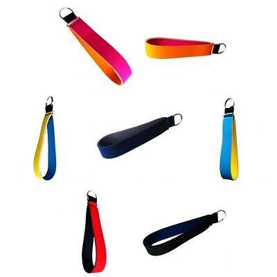 Lot 7 Neoprene Keychain Wrist Strap Band Key Holder Rope Lanyard Key Rings