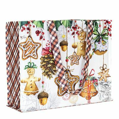 Christmas Totes (Michel Design Works Cotton Tote Bag 17x14x6 Christmas Cookies Holiday)