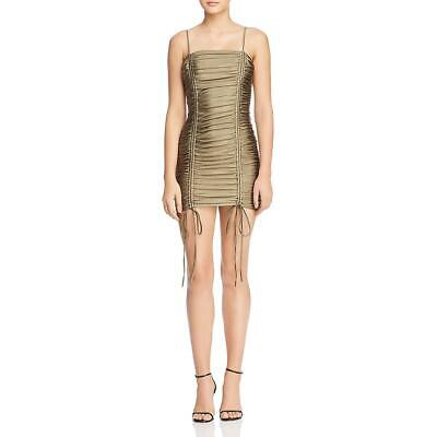 Tiger Mist Womens Zion Ruched Shimmer Mini Party Dress BHFO 5048