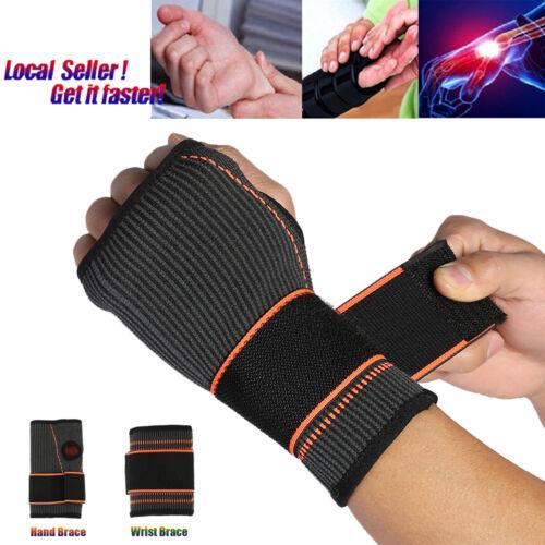 Elastic Wrist Support Hand Brace Compression Glove Carpal Tu