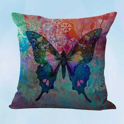 US Seller- retro butterfly cushion cover sofa pillow covers ()