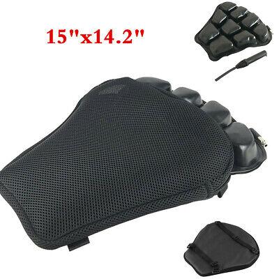 Motorcycle Seat Cushion Pressure Relief TPU Air Pad Accessories + Pump 38X36CM