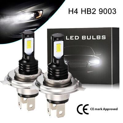 2x H4 LED Scheinwerfer Birnen Kit Hi/Lo DRL Auto KFZ Motorrad Lampen Licht 6000K