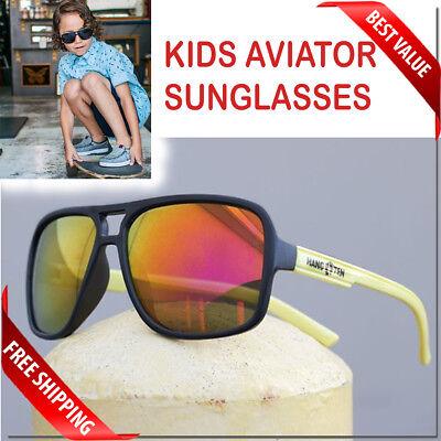 Kids Aviator Sunglasses Age 7 - 14 Junior Size Polarized Option With Pouch New  - Kids Aviators