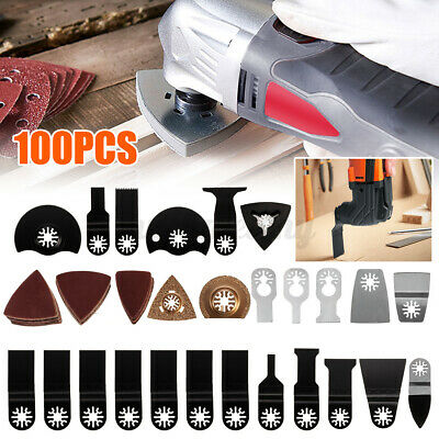 100pcs Mix Oscillating Saw Blade Multi Tool Diy For Bosch Fein For Dremel Makita