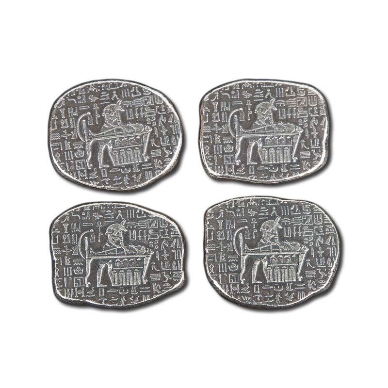 1-1//2 oz .999 Silver Round Bastet Old World Style Egyptian God Cat NEW
