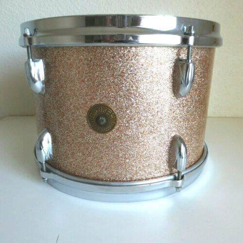 "1960s Gretsch Round Badge Champagne Sparkle 8""x12"" Tom Tom Drum FREE SHIPPING!"